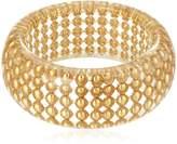 "Diane von Furstenberg Moon Unit"" Ball Clear Wide Bangle Bracelet"