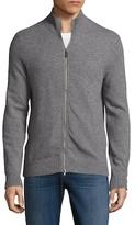 Saks Fifth Avenue Full Zip Cashmere Sweater