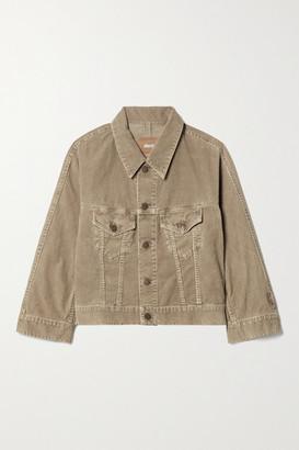 Denimist Moore Cropped Cotton-corduroy Jacket - Mushroom