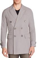 Hardy Amies Double-Breasted Peak Nylon Slim Fit Coat