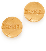 What Goes Around Comes Around Chanel Round Earrings (Previously Owned)