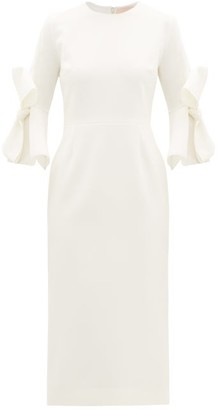 Roksanda Lavete Bow-sleeves Crepe Midi Dress - Ivory