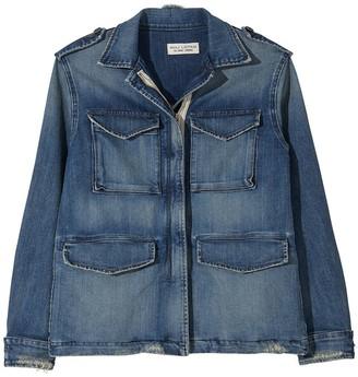 Nili Lotan Wren Washed Denim Front Pocket Jacket