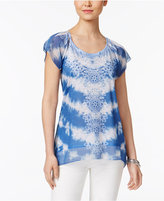 Style&Co. Style & Co Tie-Dyed Studded Top, Created for Macy's