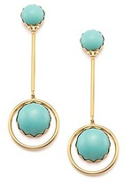 Tory Burch Linear Stone Statement Earring
