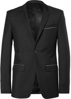 Givenchy - Black Slim-fit Chain-trimmed Wool And Mohair-blend Suit Jacket