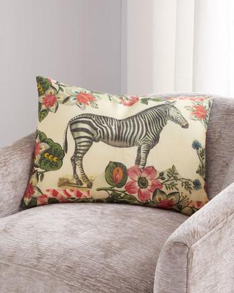 John Derian Zebras Sepia Pillow