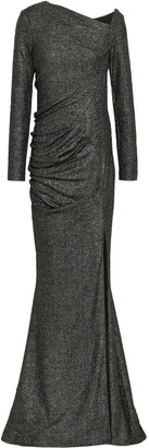 Talbot Runhof Metallic Stretch-knit Gown