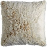Pier 1 Imports Gold Ombre Luxe Faux Fur Euro Pillow Sham