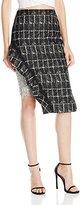 Jonathan Simkhai Women's Ruffle Space Dye Pencil Skirt