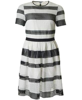 Michael Kors Striped Dress Colour: BLACK AND WHITE, Size: 10