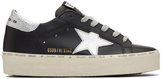 Golden Goose Black and Silver Hi Star Sneakers