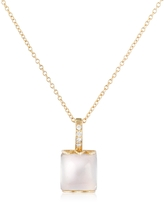 Tagliamonte Mia & Beverly Rose Quartz and Diamond 18K Gold Charm Necklace