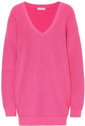 Balenciaga Oversized cotton-blend sweater