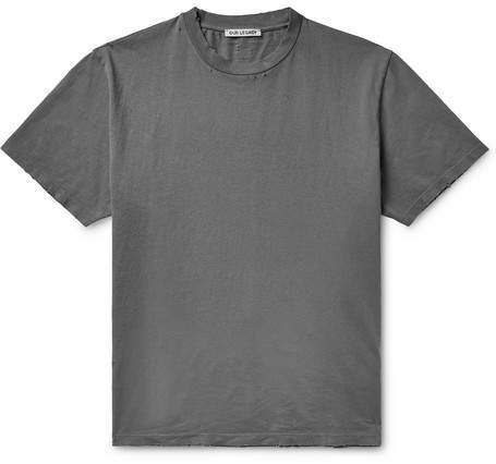 Our Legacy Distressed Cotton-Jersey T-Shirt