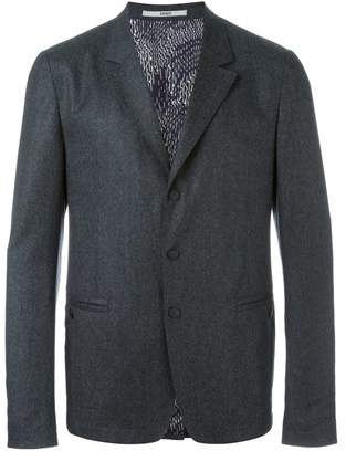Kenzo Men's Grey Wool Blazer