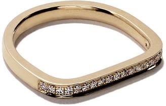 As 29 18kt yellow gold Mini Charm Pinky diamond ring