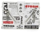 Kenzo Women's Kalifornia Leather Wallet On A Chain - White