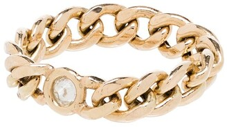 Zoë Chicco 14kt Yellow Gold Curb Chain Diamond Ring