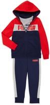 Puma Little Boy's 3-Piece Cotton-Blend Fleece Jacket, Tee & Pants Set