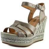 Clarks Zia Noble Open Toe Leather Wedge Heel.