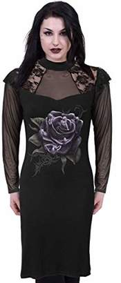 Spiral Direct Women's Rose Angels-Lace Shoulder Corset Dress,12 (Size:M)