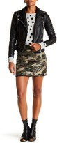 Romeo & Juliet Couture Sequin Camouflage Mini Skirt