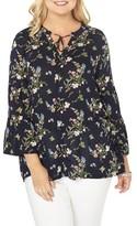 Evans Plus Size Women's Bell Sleeve Top