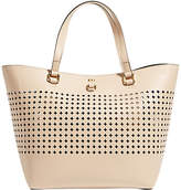 Karen Millen Perforated Large Tote Bag, Nude
