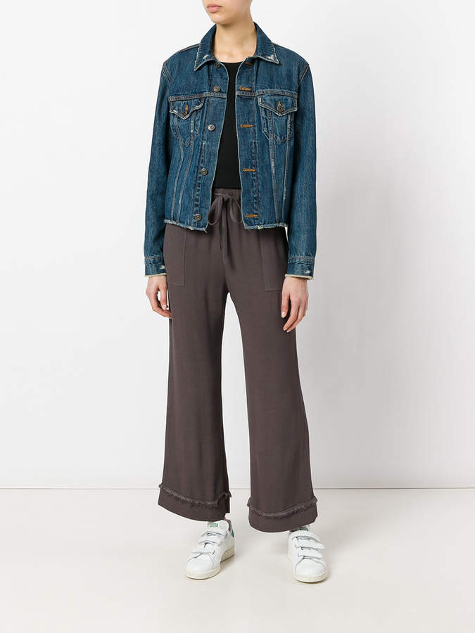 Raquel Allegra crepe drawstring cropped pants