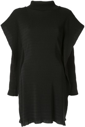 CHRISTOPHER ESBER Layered Sleeve Ribbed Tunic