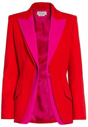 Alexander McQueen Bi-Color Layered Blazer
