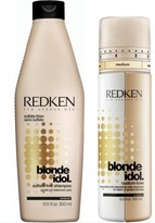 Redken Blonde Idol Shampoo and Custom Tone Gold Treatment Duo