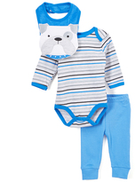 Bon Bebe Blue Stripe Bodysuit Set