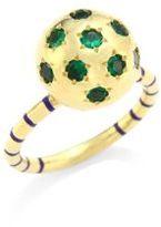 Sarah Hendler Ethel Green Tourmaline & 18K Yellow Gold Star Ring