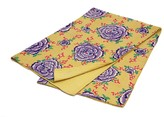 Karma Living Rose Print Kantha Throw - Lime