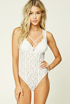 Forever 21 FOREVER 21+ Strappy Lace Bodysuit