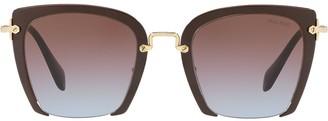 Miu Miu Rasoir cut-off lenses sunglasses