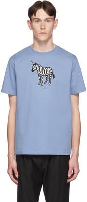 Paul Smith SSENSE Exclusive Blue Zebra Regular Fit T-Shirt