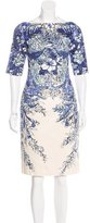 Lela Rose Floral Sheath Dress