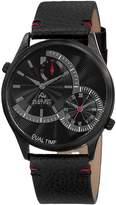 August Steiner Men's Dual Time Black Dial Watch