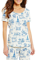 Sleep Sense French Toile-Print Sleep Top