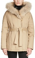 Maje Galo Faux Fur-Trimmed Coat
