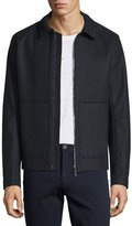 Vince Raw-Edge Zip-Up Utility Jacket