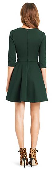 Diane von Furstenberg Jeannie V-Neck Fit and Flare Dress