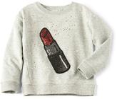 Marc Jacobs Glitter Lipstick Sweatshirt