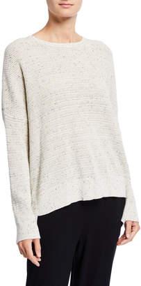 Eileen Fisher Speckle Crewneck Organic Cotton Sweater