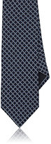 Barneys New York MEN'S DIAMOND SILK FOULARD NECKTIE