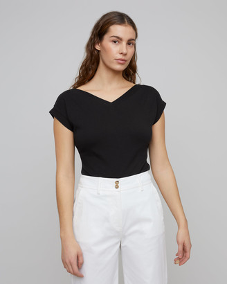 Jigsaw Bardot V Neck Top