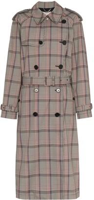 Stella McCartney pleated check trench coat